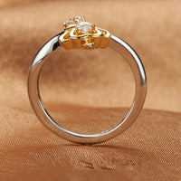 Silver Plated Queen Adjustable Crown Wedding Ring For Women