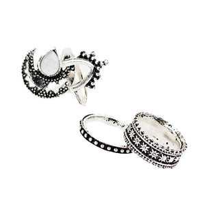 4 Pcs/Set Punk Style Midi Knuckle Ring for Women