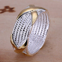 Silver color Fashion Separation X Ring for Women