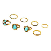8pcs/set Bohemian Vintage Punk Above Knuckle Midi Rings Set For Women