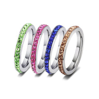 Crystal Stone Wedding Ring for Women (JZ007)
