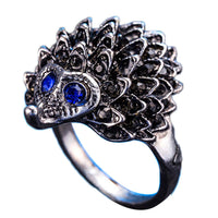Hyperbolic Cute Hedgehog Animal Rings for Women