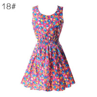 new Fashion Summer Women Floral Sleeveless Dress size mlxl - sparklingselections