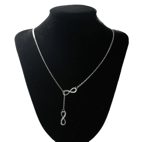 New Infinite-Love Antique Silver Pendant Necklace
