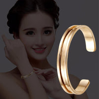 Hair Ties Rose Gold Bracelet Cuff Bangles for Women