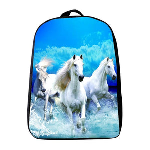 new Printing Animal horse Small Kids School Bags