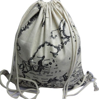 New Map Printing Convenient Canvas Backpack - sparklingselections