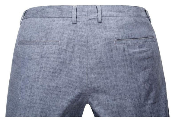 New Men Summer Linen Cotton Casual Pants Blue Grey size 30323436