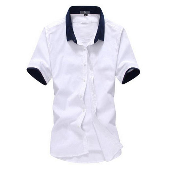 new British Style Summer Short Sleeve Shirts for men size mlxl