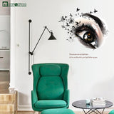 New Big Eye Art Wall Sticker for Living Room