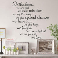 The Letters In This House Living Room Background Wall Stickers - sparklingselections