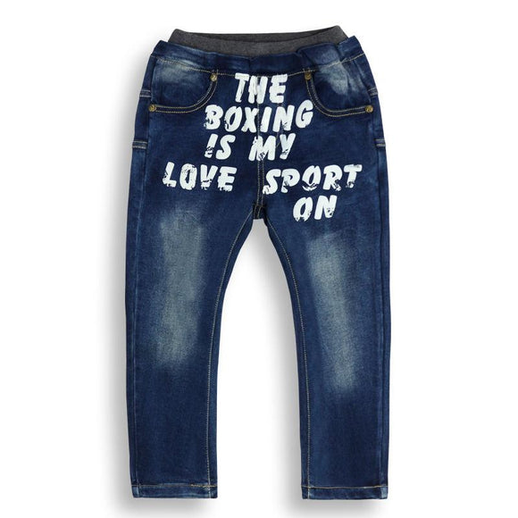 new simple style printed Letter pattern Denim Jeans size 456t