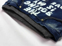new simple style printed Letter pattern Denim Jeans size 456t - sparklingselections