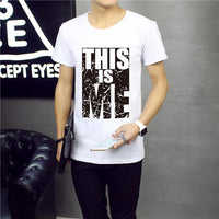 new Summer Cotton printed T-shirt size sml