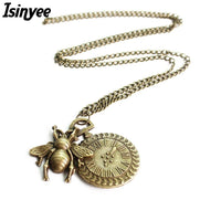 Fashion Small Honey Bee Pendant Necklace For Women - sparklingselections