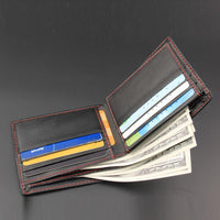 New Brand Men Bifold Business Leather Wallet - sparklingselections