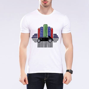 New Summer Rainbow Styling Car printed T-Shirt size sml