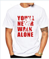 You'll Never Walk Alone Printed T-Shirt for Men size sml