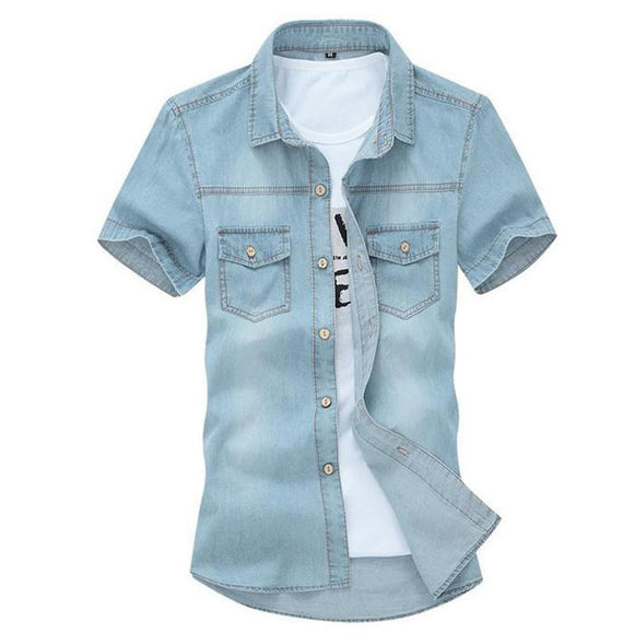new Summer Fashion Short Sleeve Shirt for men size mlxl
