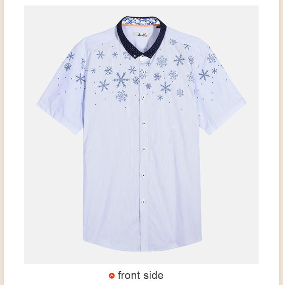 New Summer Print Casual Short Sleeve Shirt size sml