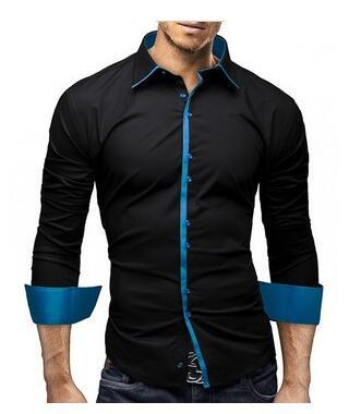 new Mens Slim Fit Long sleeve Shirt size mlxl