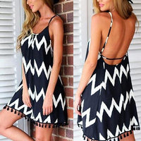 new Women's Fashion Summer Sexy Wave Dress size sml - sparklingselections