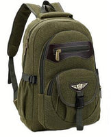 new men's large capacity canvas bag for outdoor - sparklingselections