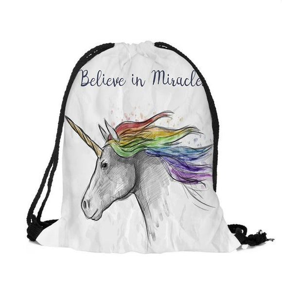 New Fashion Unicorn printed backpack for man