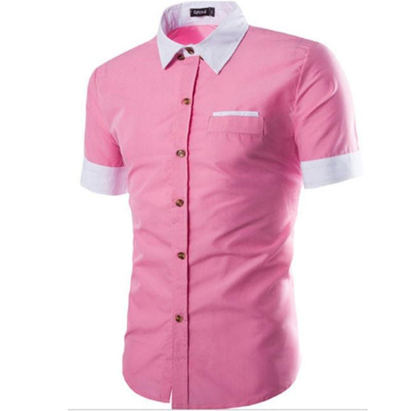 new Fashion plain Short-Sleeves Shirts for Men size mlxl