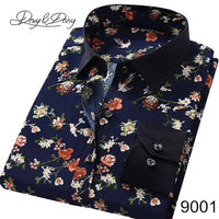 New Arrival Men Spring Long Sleeve Casual Print Shirt size sml