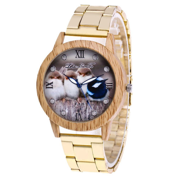 New Gold Stainless Steel Women Watch