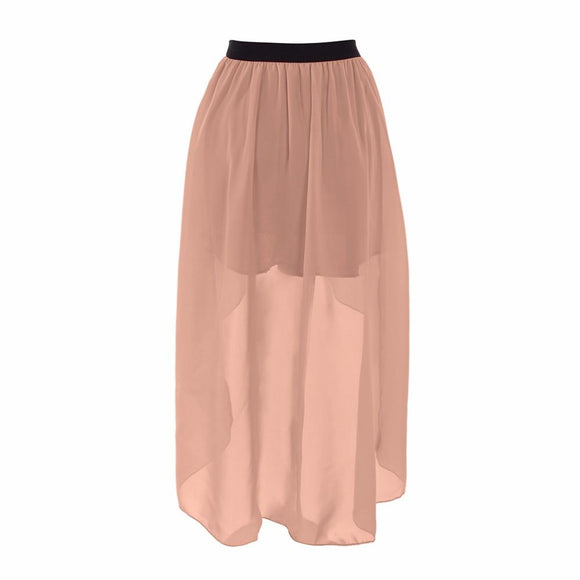 new Spring Summer Style Asymmetrical Chiffon Skirt size m