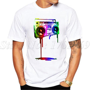 new Fashion Melting Boombox design T-shirt for men size sml