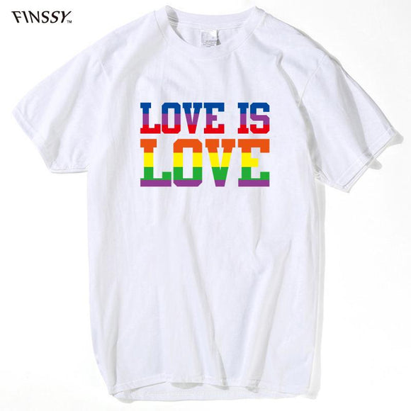 Steampunk Love Is Love Rainbow T-Shirt for Men