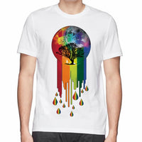 Rainbow Connection printed man t-shirt  size sml - sparklingselections
