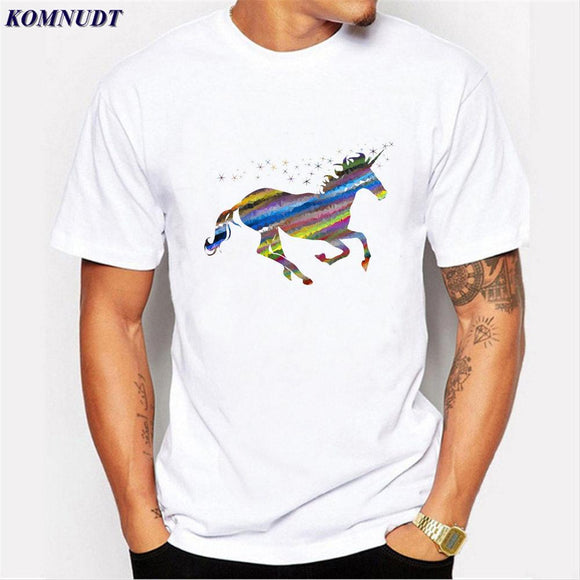 Rainbow Unicorn Printed T-shirt for man size sml