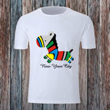 New Brand Clothing Rainbow Zebra Printed T-shirt for Men  size sml
