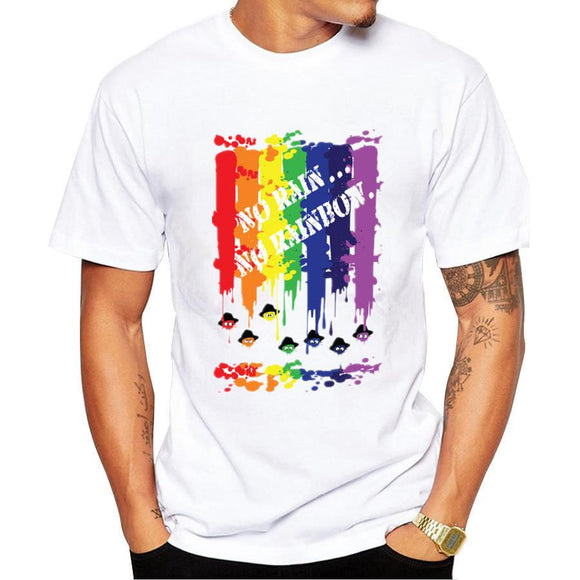 NO RAIN NO RAINBOW Printed T-Shirt for Men