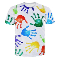 new Hand All-over Printed T-shirt for men size sml