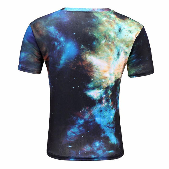 Original style 3D print space constellation T-shirt for men size ml