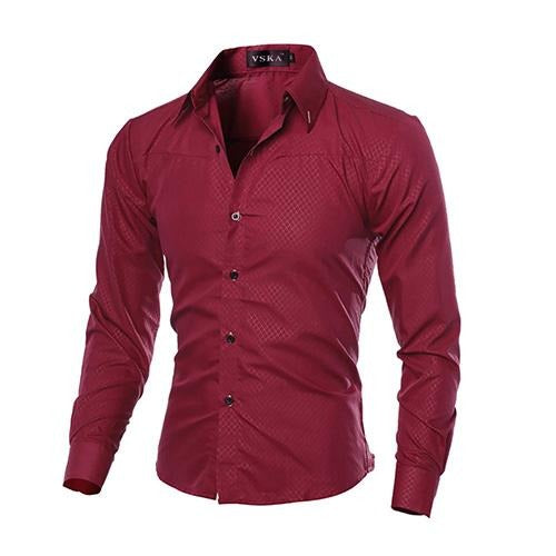 Men Luxury Fashion Casual Formal Shirt  size mlxl