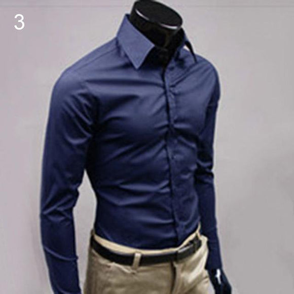 Men's Luxury Casual Formal Blue Shirts