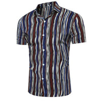 new Summer Striped Formal Shirt for men size mlxl