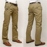 New Slim Fit Casual Office Pocket Straight Pants for men size 30323436