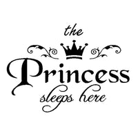 The Princess Sleeps Here Vinyl Wall Stickers For kids Rooms - sparklingselections
