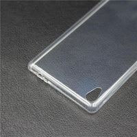Soft Transparent Gel Case Skin For Sony Xperia C6 Ultra - sparklingselections