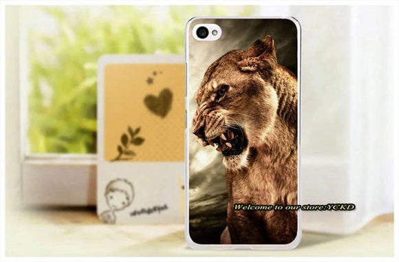 Tiger Lion Animal Painted phone Cover For Lenovo S90