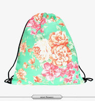 New stylish flower 3D Printing Backpack for Women - sparklingselections