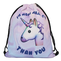 unicorn 3D Printing Soft back for Man