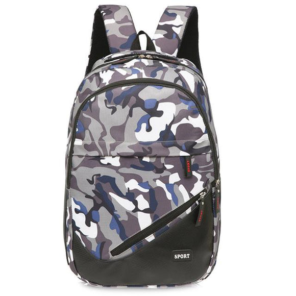 new Travel Canvas Camouflage School Bag